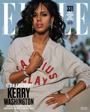 Kerry Washington Covers ELLE April 2016.