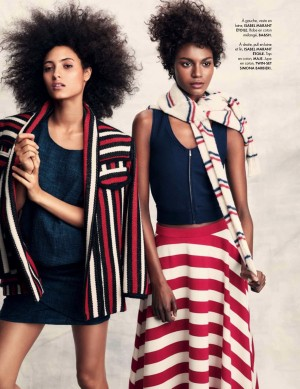 Editorials.  Melodie Vaxelaire. Kelly Moreira. ELLE France March 2016.  Images by Andreas Sjodin.