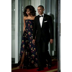Michelle Obama Slays in Custom Jason Wu At The White House State Dinner.