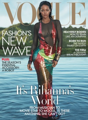 Rihanna Covers Vogue April 2016.  Images by Mert Alas and Marcus Piggott.