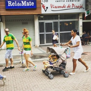 Viral Photo of Brazilian Protesters Marching With Nanny Pushing Stroller Sparks Race Debate.