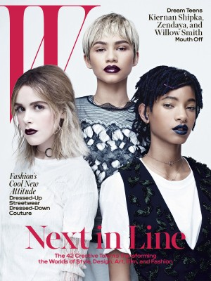 Editorials.  Willow Smith, Zendaya, and Kiernan Shipka Cover W Magazine.  Images by Willy Vanderperre.