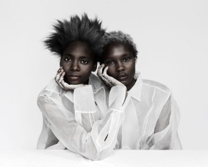 "Images. Aliane Uwimana & Marie Fofana in ""Une Petite Poésie"" for LeParadox by Charlotte Abramow."