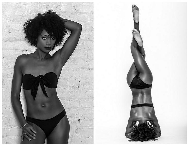 women waist black Beautiful body