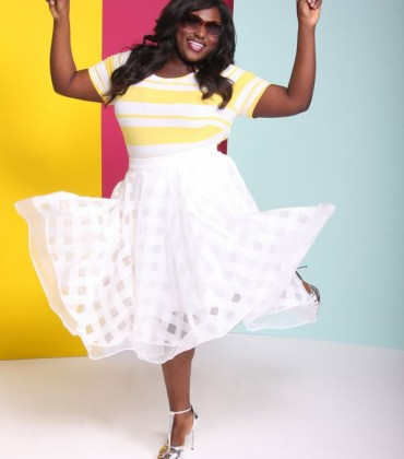 'Orange Is the New Black' Star Danielle Brooks is the Face of the Lane Bryant x Christian Siriano Collaboration Collection.
