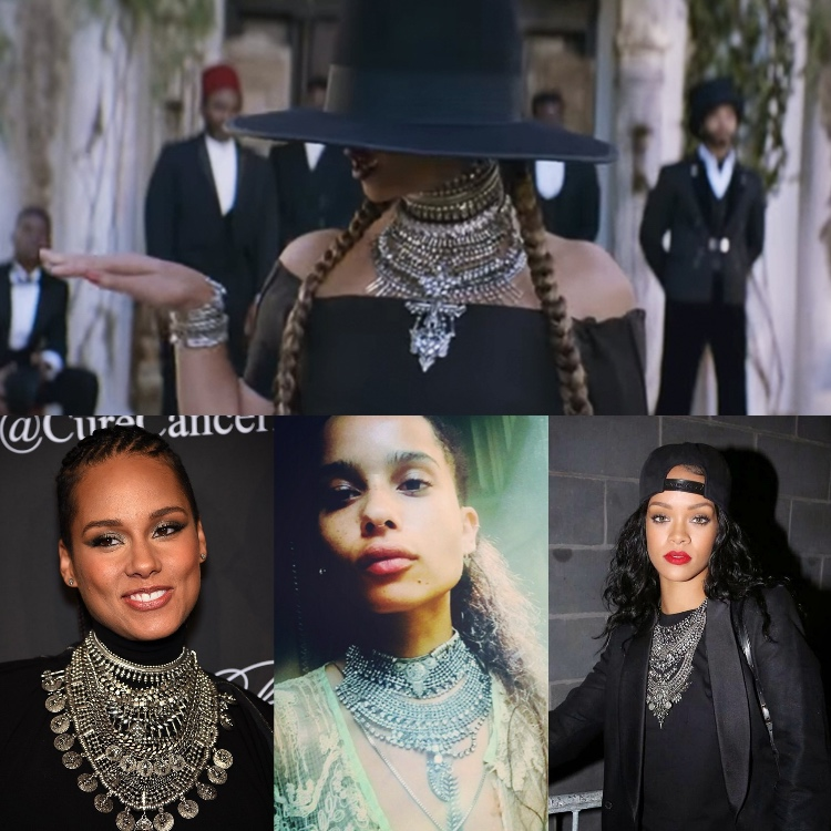 Beyonce, Alicia Keys, Rihanna, Zoe Kravitz Fashion