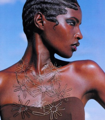 Editorial Throwback.  Kiara Kabukuru.  Vogue June 1997.  Images by Herb Ritts.