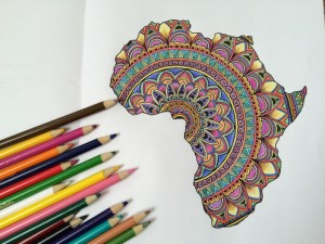 Shop This.  AfroZen.  A Beautiful Afrocentric Adult Coloring Book Illustrated by Merissa Hamilton.