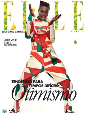 Iconic Model Alek Wek Stars on 4 Covers For Elle Brasil's Anniversary Issue.  Images by Gustavo Zylbersztajn.