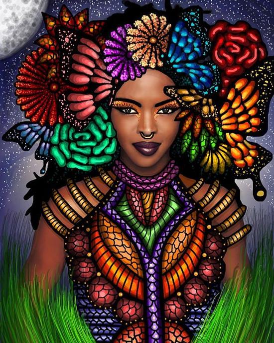 art gelila metiti mesfin creates intricate illustrations