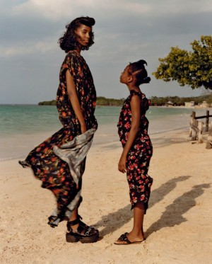 Editorials. Tami Williams and Lineisy Montero. Vogue June 2016. Images by Jamie Hawkesworth.