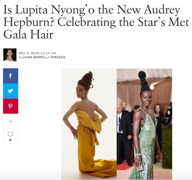Lupita Nyong'o Met Gala Hair