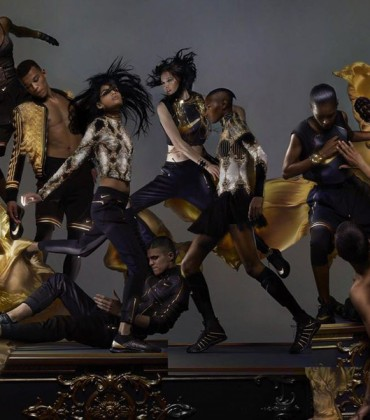 First Look.  The NikeLab x Olivier Rousteing Collaboration is All About Black and Gold.