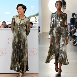 Paparazzi Files.  'Loving' Star Ruth Negga in SUNO FW16 at Cannes 2016.