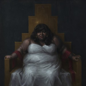 Artist Sam Spratt Paints a Striking Portrait of Gabourey Sidibe.