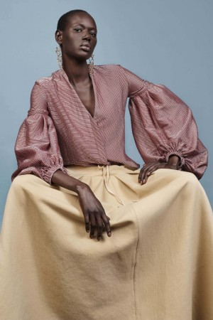 Collections.  Ajak Deng for Hellessy Resort 2017.