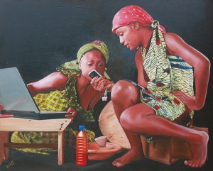 Art. Jeremiah Quarshie Paints Realistic Portraits of Ghanaian Women.