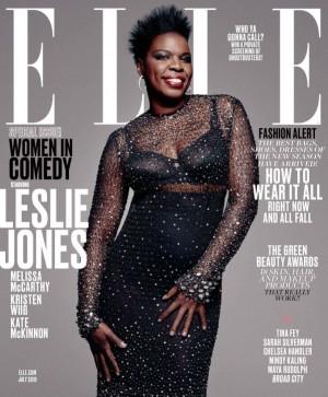 Leslie Jones Covers ELLE's July 2016 Issue.