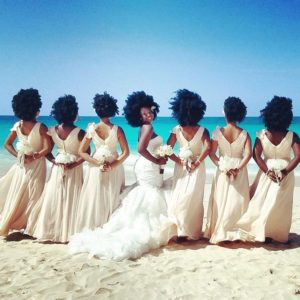 Beautiful Bride and Bridesmaids With Natural Hair Go Viral.