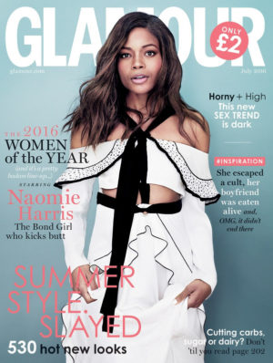 Editorials. Naomie Harris Covers Glamour UK July 2016.
