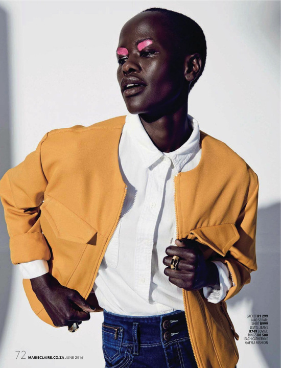 b4957e8cfac Editorials. Naro Lokuruka. Marie Claire South Africa June 2016 ...
