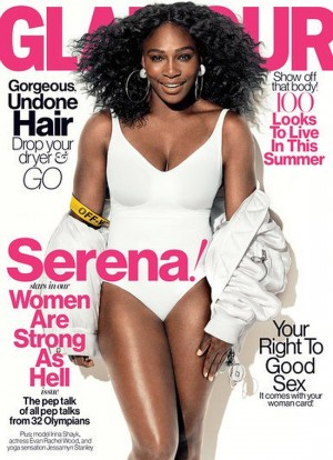 Serena Williams Covers Glamour Magazine.  With Interview by Melissa Harris-Perry.