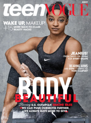 Simone Biles and Gabby Douglas Cover Teen Vogue August 2016.