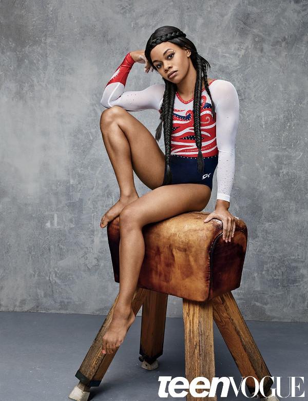 Simone Biles Gabby Douglas Teen Vogue