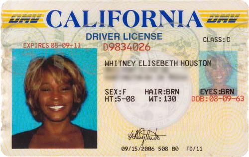 Whitney Houston S Passport Credit Cards Awards Gold