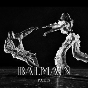 Kanye West and Joan Smalls Star in Balmain FW16 Campaign.