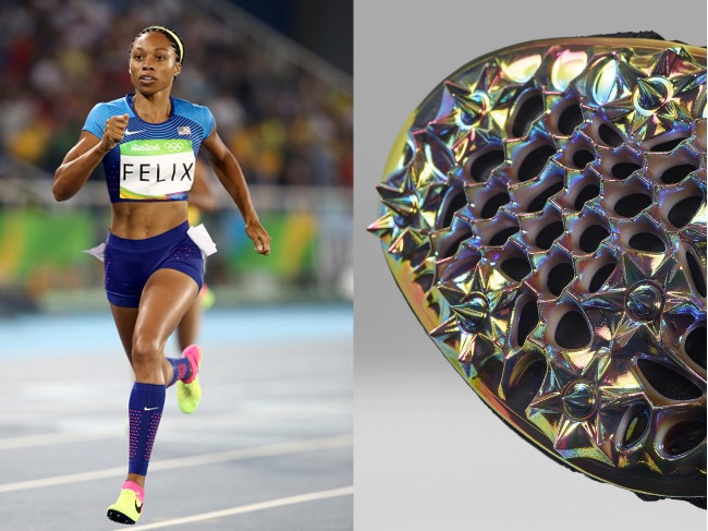 Allyson Felix's Custom Spiked Nike Running Shoes Were Created by a ...