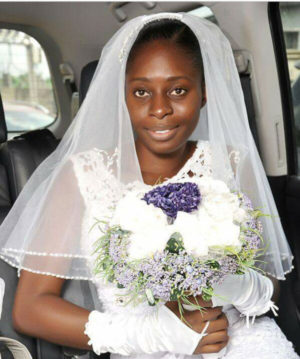 Nigerian Bride Goes Makeup-Free For Her Wedding Day.