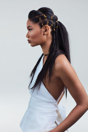Ads. Chanel Iman. Mizani 'Freedom to Style' Campaign 2016.