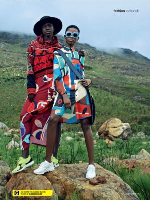 Editorials.  Maryse Kyelem, Tshepiso Ralehlathe, and Nyamuoch Girwath. Glamour South Africa.  Images by Kope | Figgins.