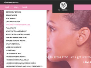 Introducing Tress Free.  The UK's First Multicultural Hair and Beauty Booking Website .