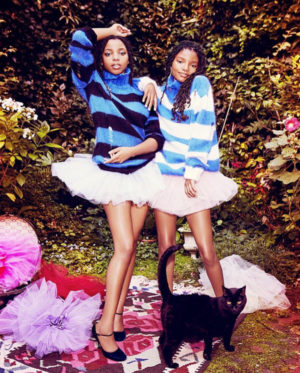 Editorials. Chloe x Halle. Paper Magazine September 2016. Images by Ellen von Unwerth.