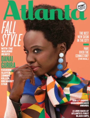 Editorials. Danai Gurira. Atlanta Magazine.  Images by Alex Martinez.
