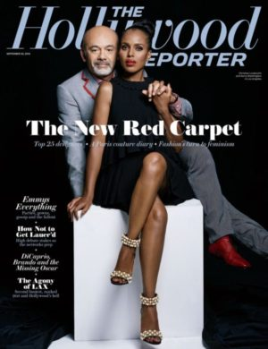 Kerry Washington Covers The Hollywood Reporter With Christian Louboutin.