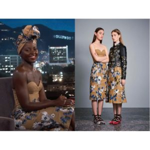 Lupita Nyong'o Wears Erdem Resort 2017 and Talks About the First Time She Met Beyoncé.