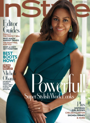 Michelle Obama Covers InStyle Magazine.  October 2016.