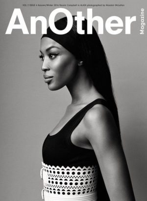 Editorials. Naomi Campbell.  Another Magazine Autumn/Winter 2016.  Images by Alasdair McLellan.