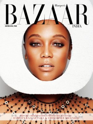 Tyra Banks and Tracey Africa Cover Harper's Bazaar India's Special Diversity Issue.
