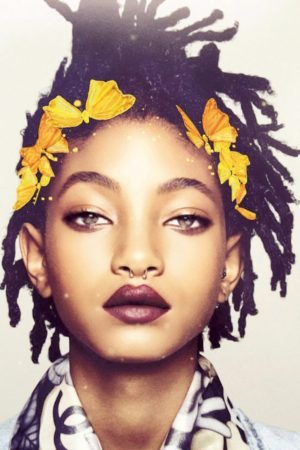 Willow Smith Sports Snapchat Filters for Garage Magazine.