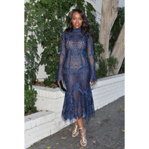 Aja Naomi King Wears Jonathan Simkhai Fall/Winter 2016.