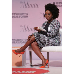 "Chimamanda Ngozi Adichie: "" I refuse to accept that somehow feminism and femininity are mutually exclusive."""