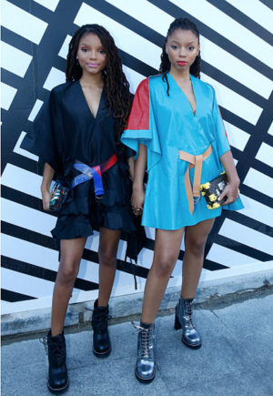Chloe x Halle Sit Front Row at Louis Vuitton SS17.
