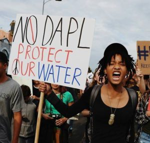 Willow and Jaden Smith Join #NODAPL Protests.