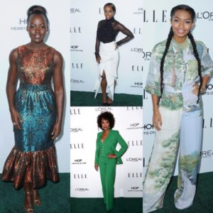 On the Red Carpet.  Lupita Nyong'o, Aja Naomi King, Tracee Ellis Ross and More at the ELLE 'Women in Hollywood' Awards.