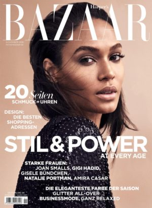 Editorials.  Joan Smalls. Harper's Bazaar Germany November 2016.  Images by Marcus Ohlsson.