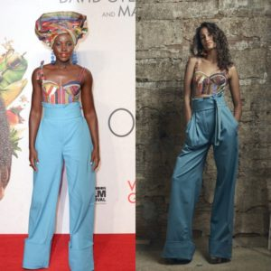 Lupita Nyong'o Wears Rosie Assoulin to the London Premiere of Queen of Katwe.
